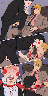 mp100 mob psycho one hundred ekubo ekurei suits fetish comic strangulation