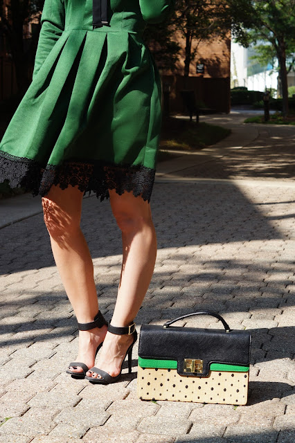 green black lace dress fall fashion chicago