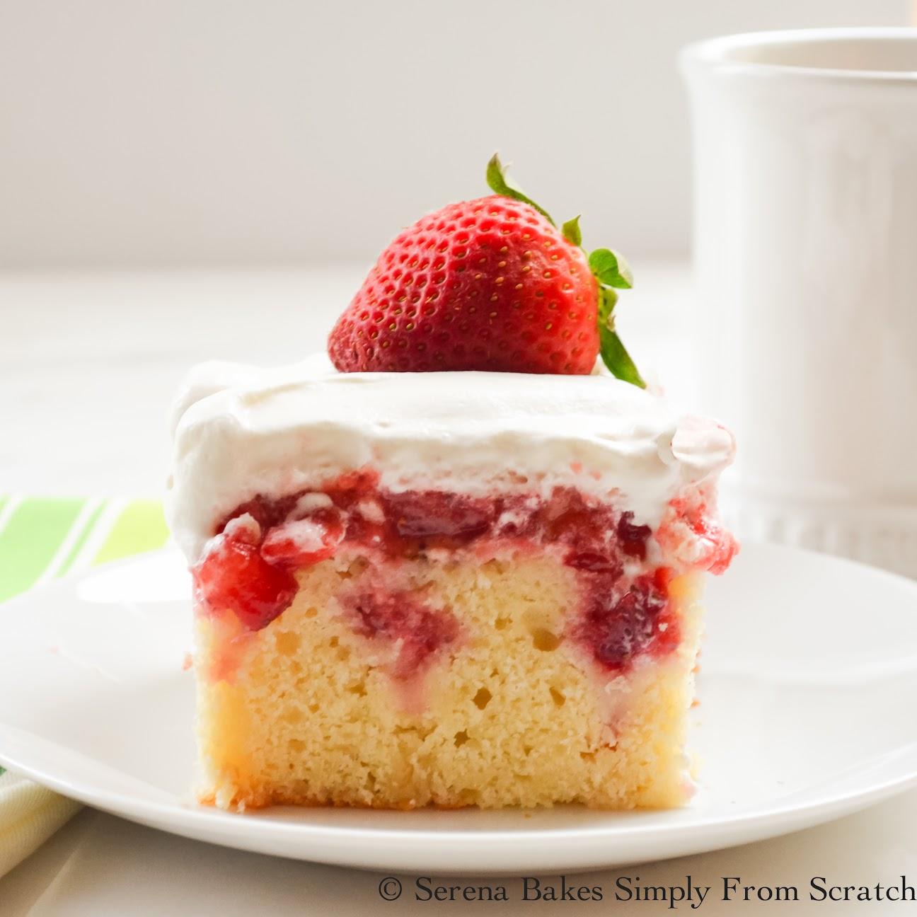 Strawberry Shortcake Poke Cake | Serena Bakes Simply From ...