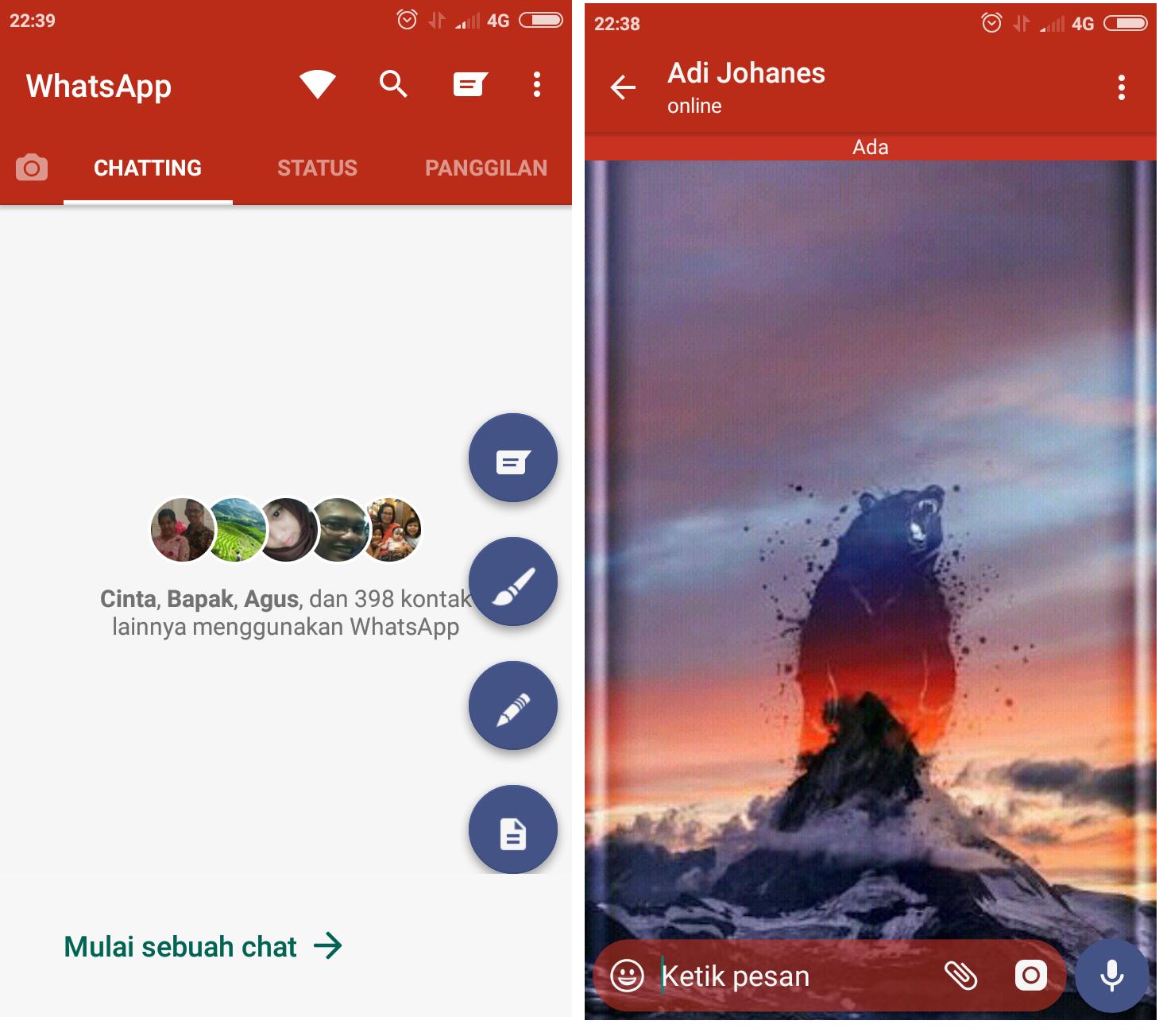 Cara Mudah Mengganti / Mengubah Tema Whatsapp menjadi ...