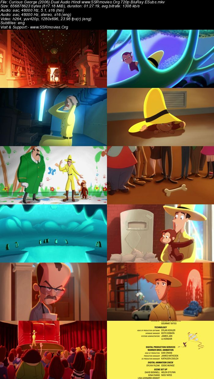 Curious George (2006) Dual Audio Hindi 720p BluRay
