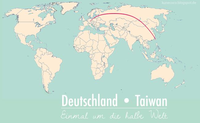 Deutschland – Taiwan: Einmal um die halbe Welt