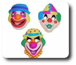 Masque coque de clown