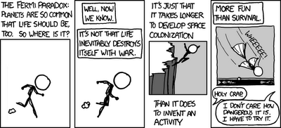 Sentient Developments: XKCD's resolution to the Fermi Paradox