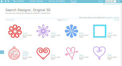 Free shapes in the Silhouette Cameo online store to download