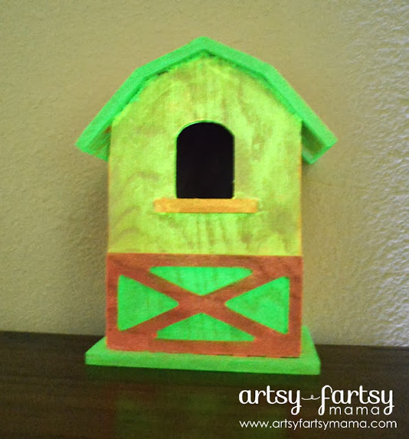 Glow in the Dark Birdhouse #PlaidSummerKids