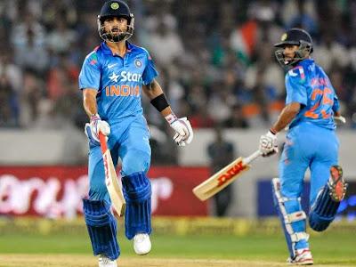 Dhawan and Kohli leads India 3-0 in odi series