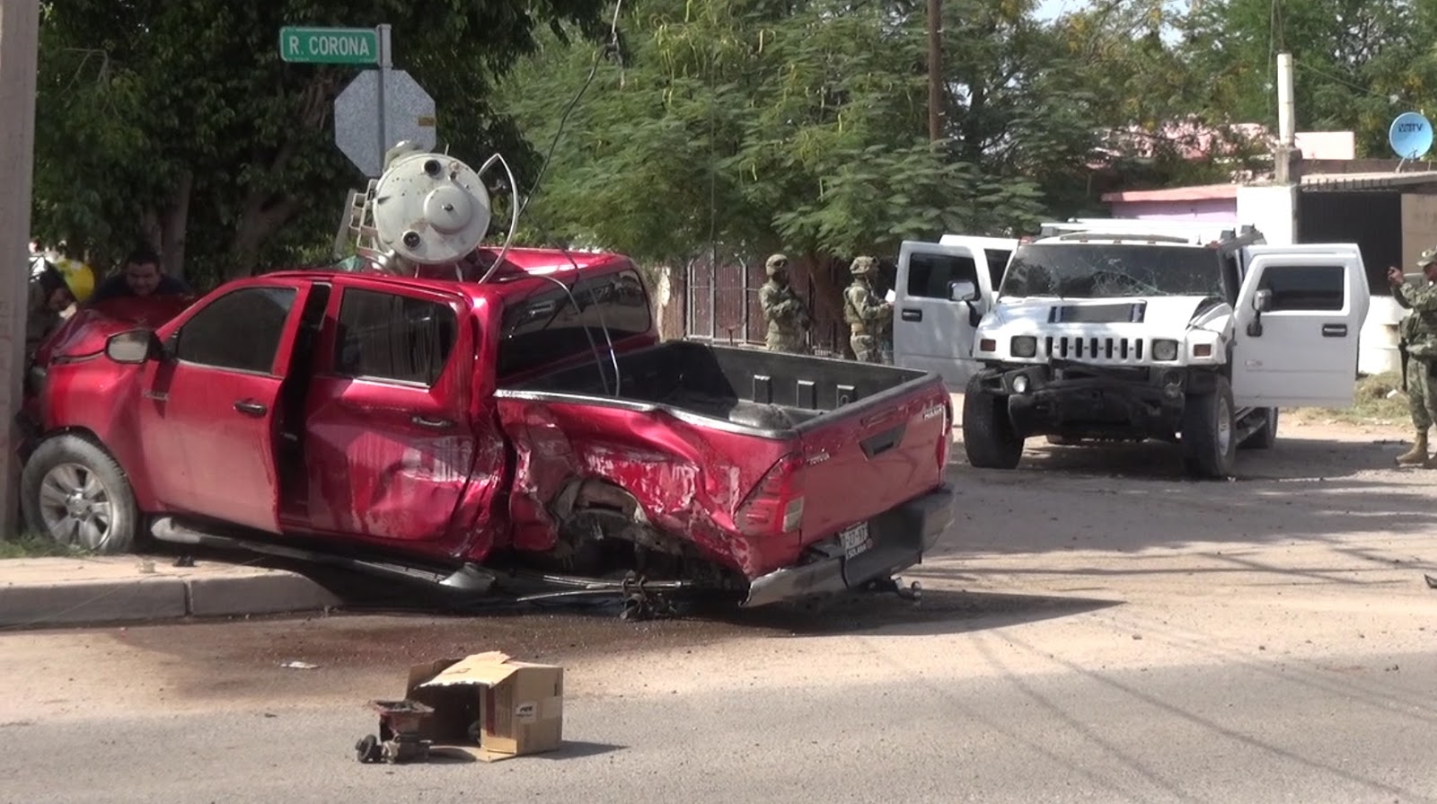 """Tras fuerte  """"topon"""",  Marinos hacen huir a comando de sicarios en Sinaloa"""