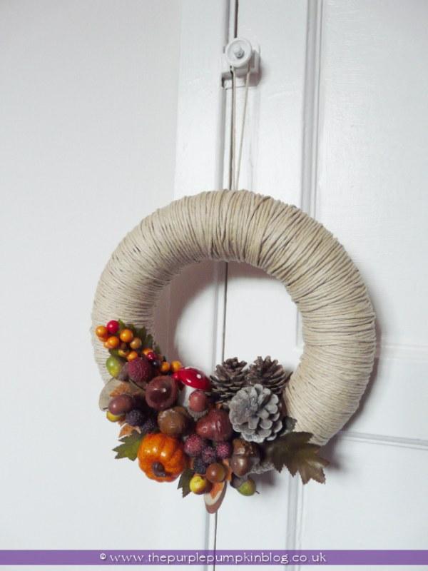 Homemade Autumn/Fall Wreath at The Purple Pumpkin Blog