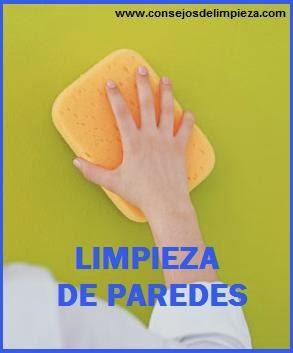 Limpieza de paredes lavables