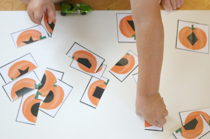 printable pumpkin shape puzzles