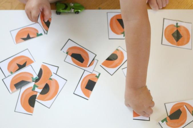 matching pumpkin shapes