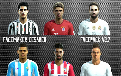 PES 2013 New Facepack V2.7 by Cesareo Facemaker