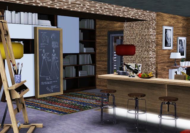 maison style loft sims 3