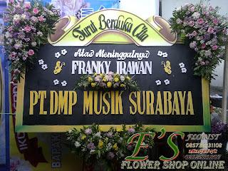 papan bunga ucapan duka dmp musik surabaya