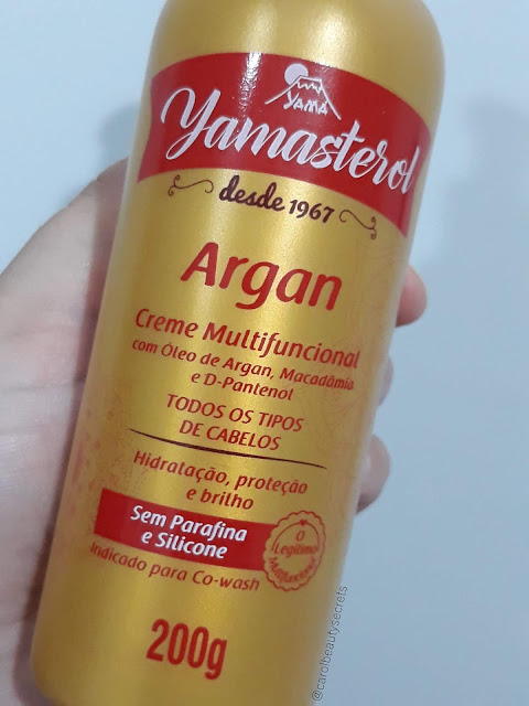yamasterol-argan-multifuncional-resenha-yama cosmeticos-cowash-liberado-no poo-low poo-carolbeautysecrets