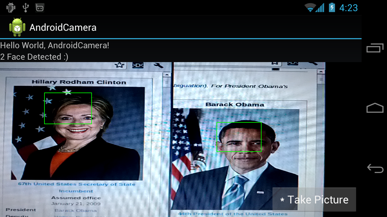 Android-er: Android 4 Face Detection: Display detected face area