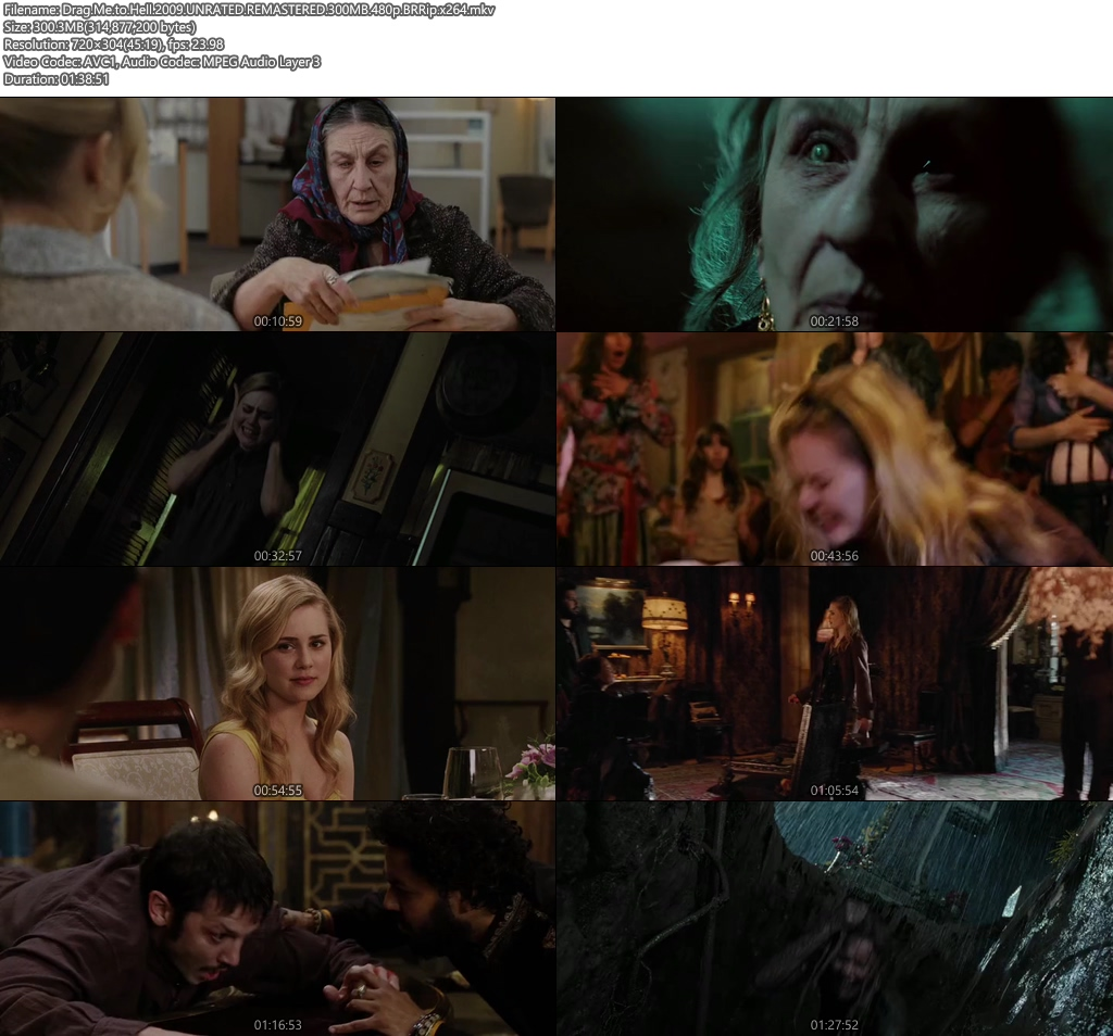 Drag Me to Hell 2009 UNRATED REMASTERED 300MB 480p BRRip x264 Screenshot