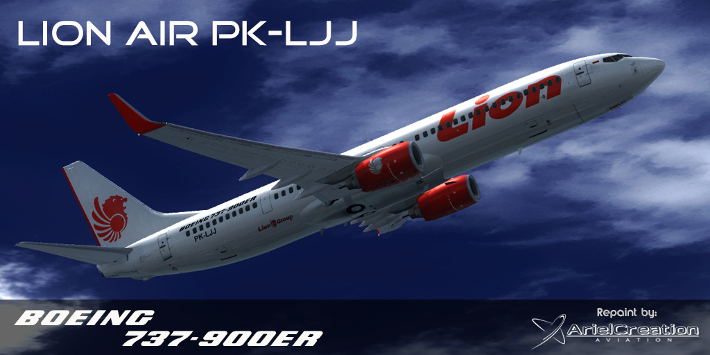 PMDG 737-800/900NGX Lion Air Livery FSX - Ariel Creation