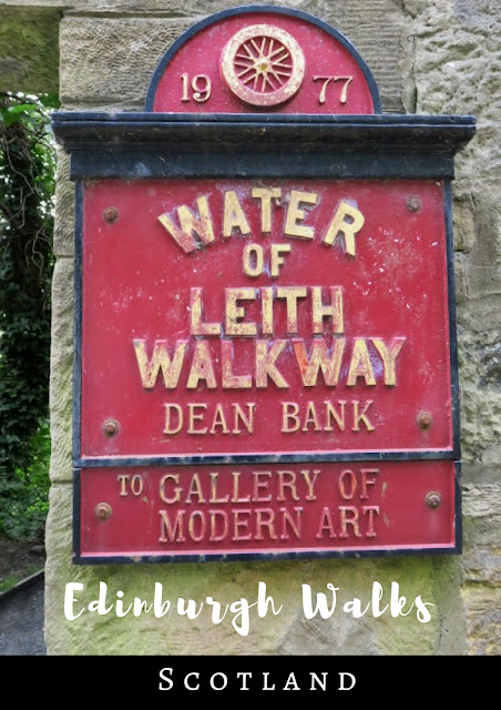 Pinterest Pin: A Walk on the Water of Leith in Edinburgh Scotland
