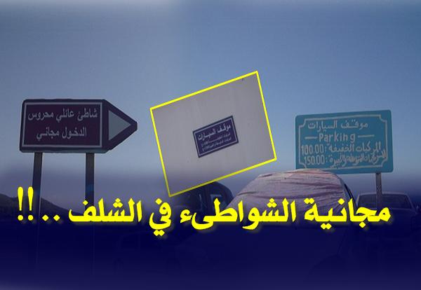 هذه هي حقيقة مجانية الشواطىء بالشلف ..‼