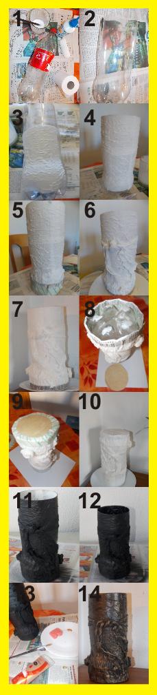 Pasos para convertir la botella de plástico en un jarrón