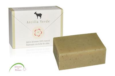 Jabones naturales de Arcilla verde y leche de cabra