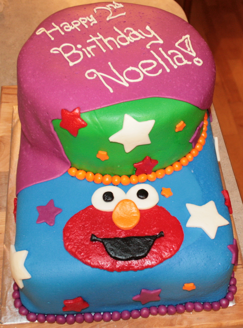 Kidlets And Whippets Equals Joy Elmo Fondant Cake For A