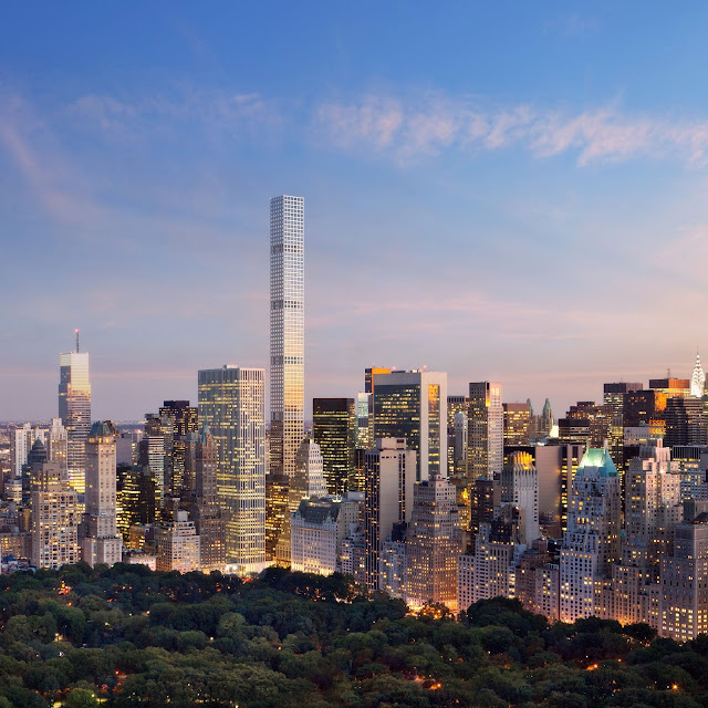 432 Park Avenue as seen from the central park
