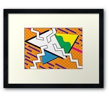 Totally 80s Abstract Art Framed Print