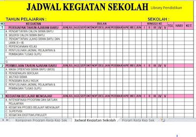 Download Aplikasi Program Kerja Kepala Sekolah Madrasah Terbaru Library Pendidikan