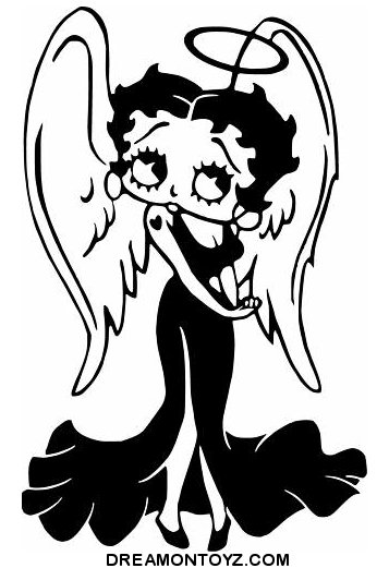 Betty boop pictures archive bbpa betty boop angel images for Betty boop coloring pages