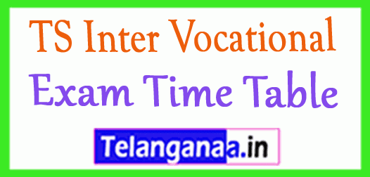 TS Inter Vocational Exam Time Table
