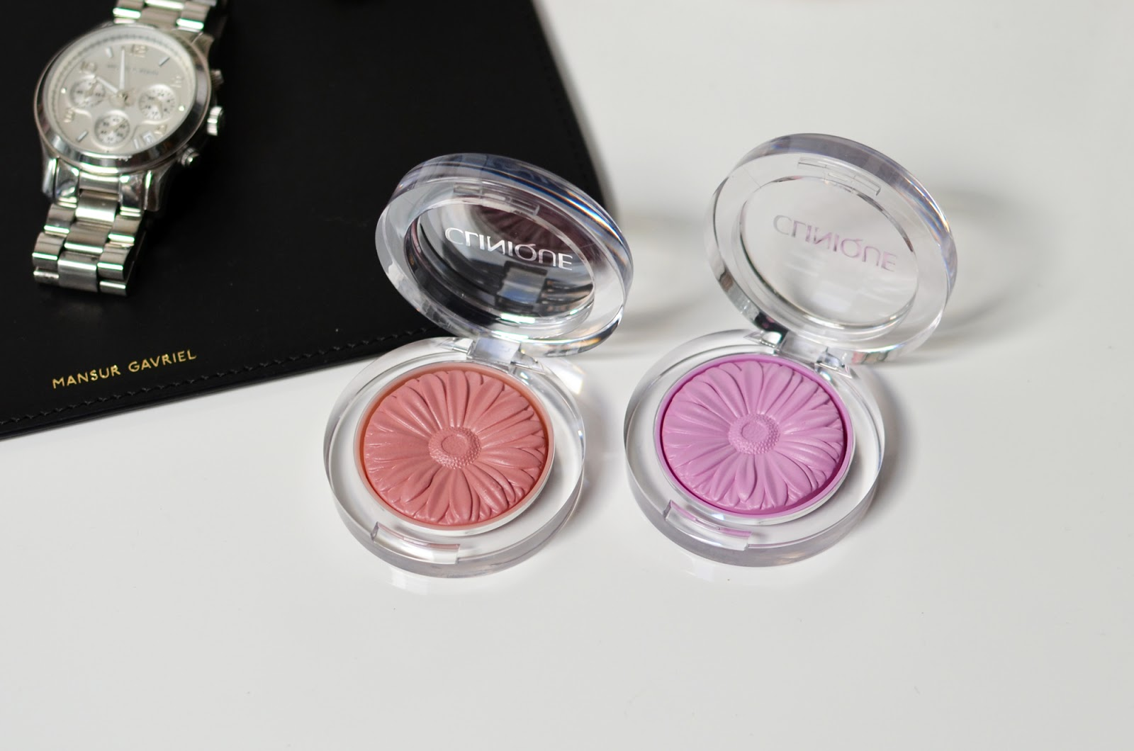 Clinique Cheek Pop blushes in Heather Pop and Pansy Pop