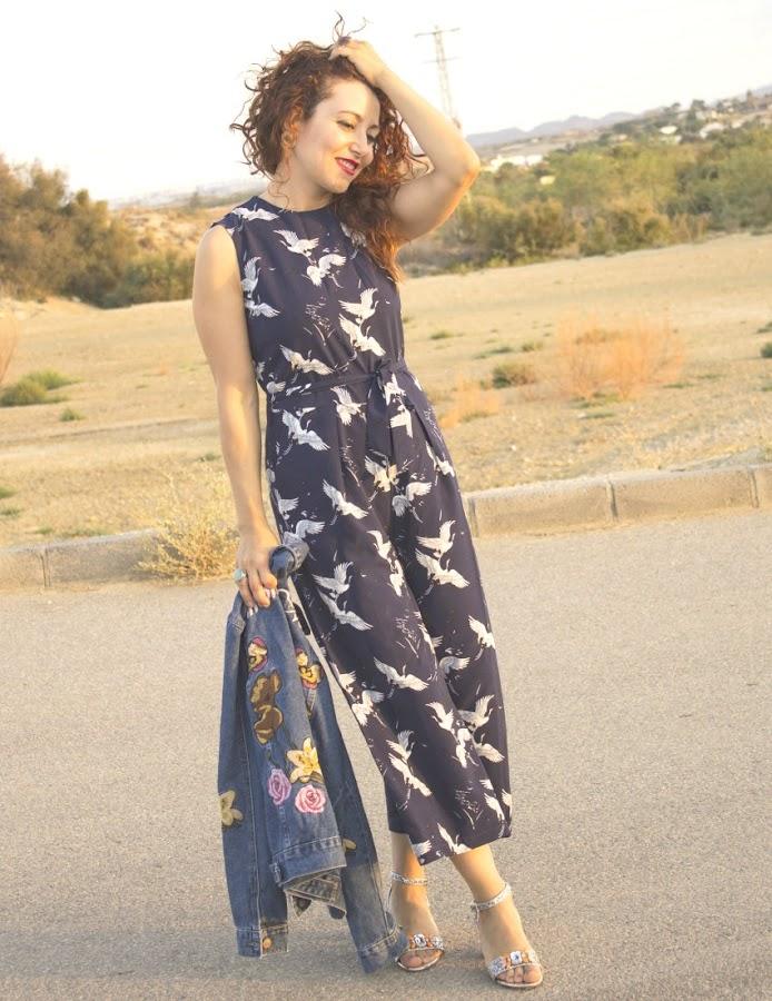 melange_boutique_fashion_blog_de_moda_mono_culotte_garzas_zaful_cazadora_bordada_amore_mio_glamorous_bolso_gato_8