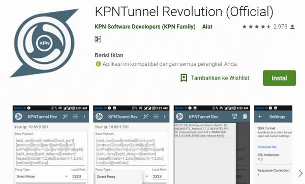 kpntunnel aplikasi agar bisa internetan gratis tanpa kuota