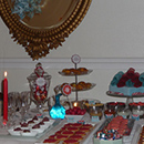 Sweet table Saint Sylvestre table flocons / New year Snowflake sweet table