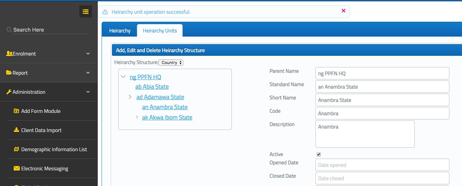 Java Trunk : CRUD on recursive item list bound to JSF UI