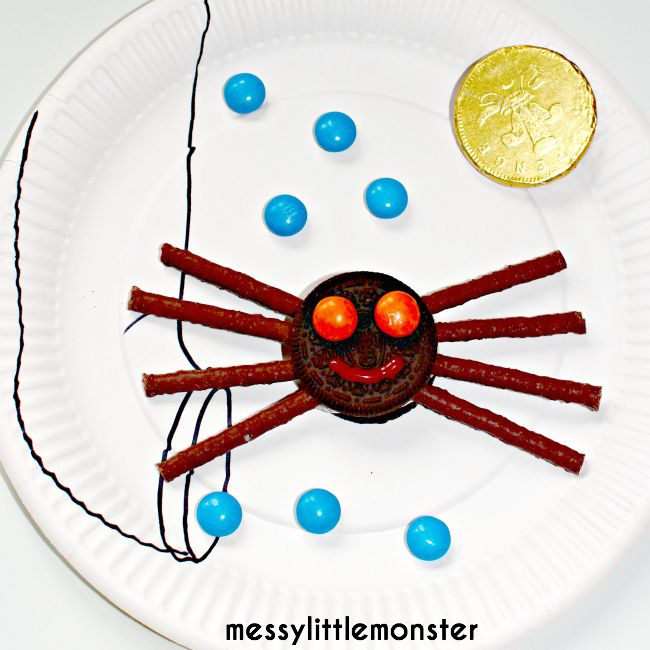 Incy Wincy Spider biscuit snack idea