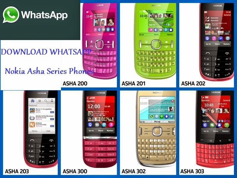 Whatsapp for nokia asha 200, 201, 202, 205, 206, 210, 300, 302 etc.