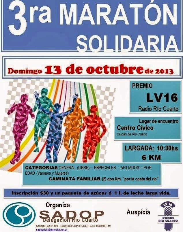 Volantes de carreras: Prueba Atlética Solidaria LV16 Radio ...