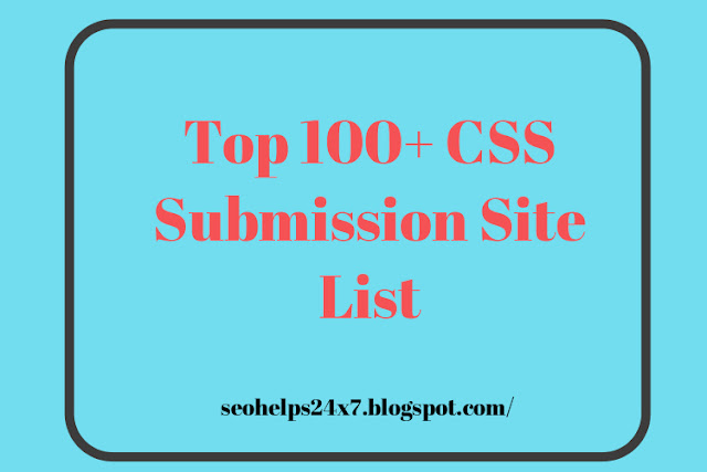 css submission site list