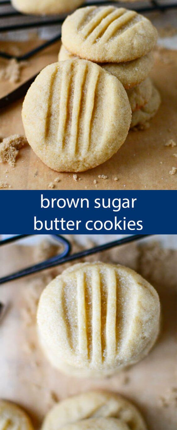 BROWN SUGAR BUTTER COOKIES