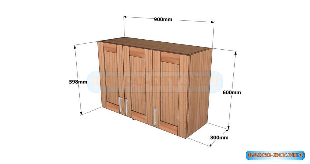 Planos detallados para hacer un mueble alto de cocina de madera ...