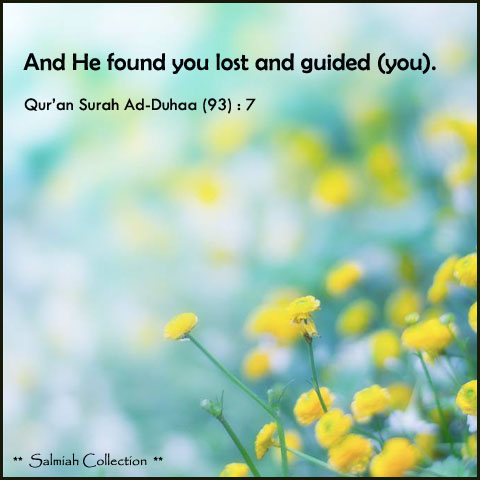 Qur'an Surah Ad-Duhaa : 7