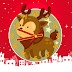 Christmas Reindeer Clock Animated Screensaver