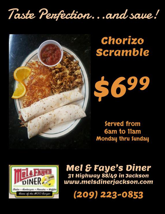 NOV SPECIAL at Mel's Diner in Jackson!