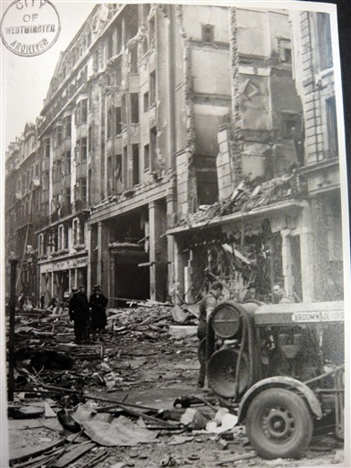 17 April 1941 worldwartwo.filminspector.com Westminster London Blitz damage