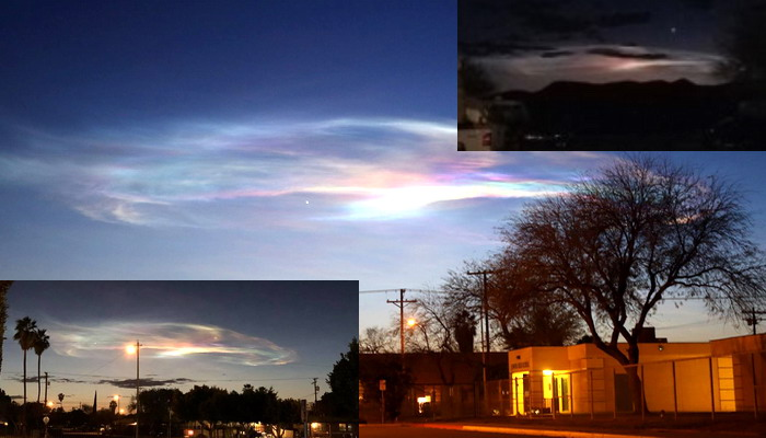 Extraño fenómeno en el cielo en el norte de México y sur de EE.UU causa intriga entre los residentes locales.