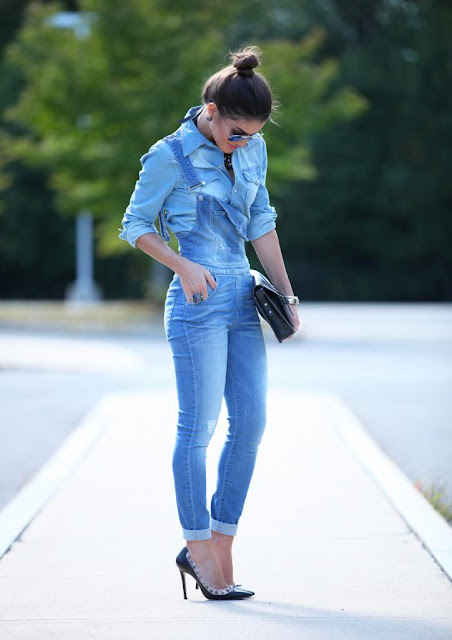 looks com macacao jeans